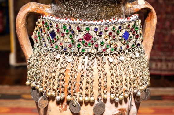 AN554 Afghan Tribal Kuchi Choker Necklace